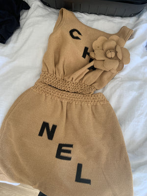 Chanel crop and skirt