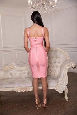 Pink believe dress by house of Cb