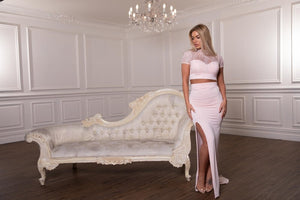 Amy Taylor baby pink two piece