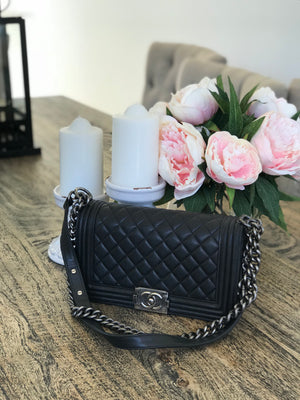 Black Chanel boy bag