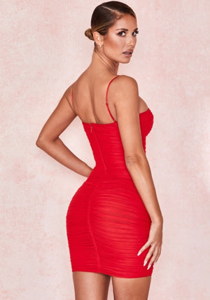 The red Ella dress by house of Cb