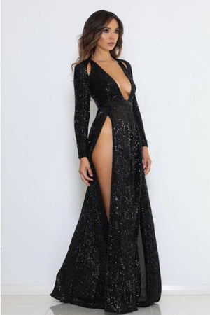 Catalina sequin dress by abyss