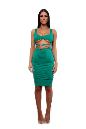 Green with envy dress by ohpolly