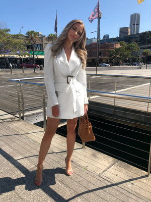 Mini white blazer dress by acler
