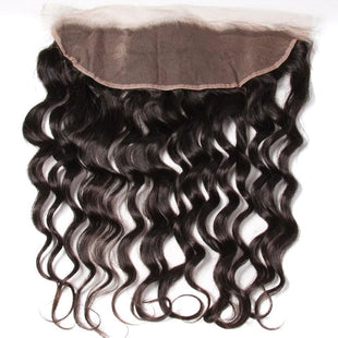 Vbena 13x4 Lace Frontal Closure 1Bundles Ear to Ear Natural Wave Hair Closure