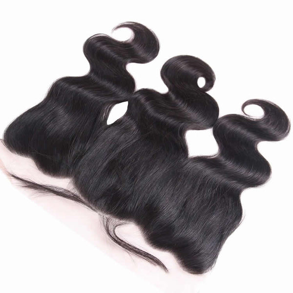 Vbena Brazilian Virgin Body Wave Hair 3Bundles With Lace Frontal Hair Closure