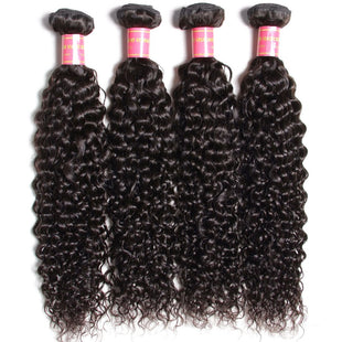 Vbena Malaysian Curly Virgin Human Hair Bundles 4Bundel Deals