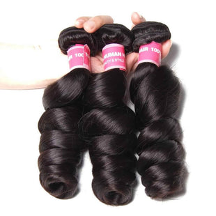 Vbena Malaysian Loose Wave 3Bundles Human Virgin Hair Extensions