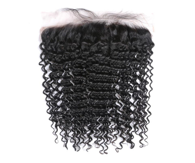 Vbena Deep Wave Human Hair Lace Frontal Closure 13x4 Lace Hair