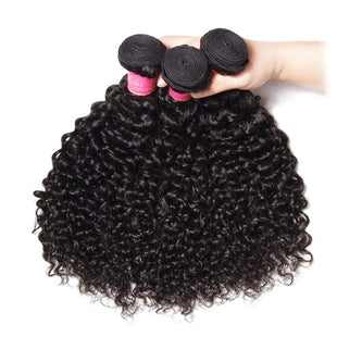 Vbena Peruvian Jerry Curly 3Bundles Unprocessed Virgin Hair Weave Natural Color