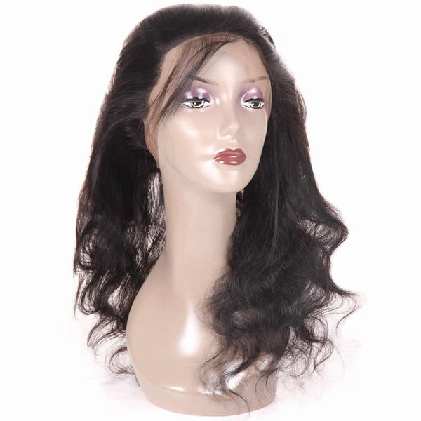 Vbena Indian Body Wave 360 Lace Frontal Closure with 3Bundles Hair Weave