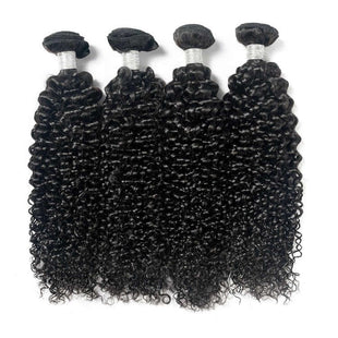 Vbena Indian Virgin Curly Hair 4x4 Lace Closure with 4Bundles