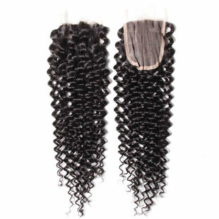 Vbena Brazilian Curly Wave 4x4 Lace Closure With 4Bundles Virgin Hair Deals