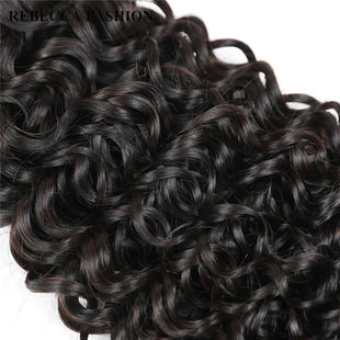 Vbena Peruvian Curly Virgin Hair 3Bundles with Closure 13x4 Lace Frontal Closure