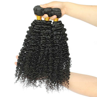 Vbena Virgin Curly Lace Frontal Closure 13x4  1Bundles Ear To Ear Lace Hair