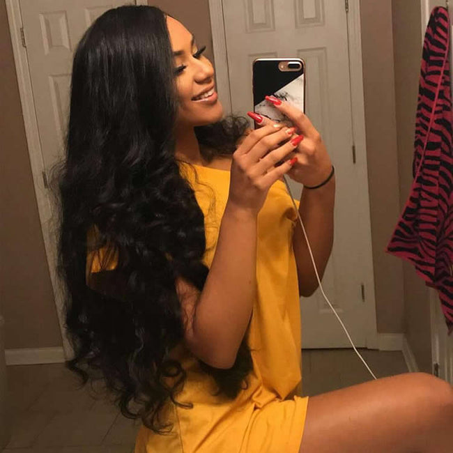 Vbena Peruvian Loose Wave Virgin 4Bundles Hair with Lace Closure Deals