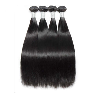 Vbena Peruvian Straight Hair 4Bundles with 4x4 Lace Closure Deals
