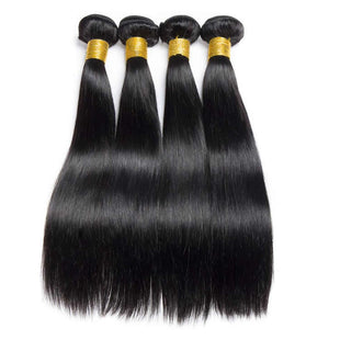 Vbena Peruvian Straight Hair 4 Bundles Virgin Hair Weave Bundles