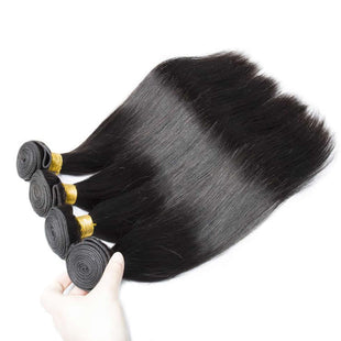 Vbena 4bundles Indian Straight Weave Virgin Human Hair Natural Color