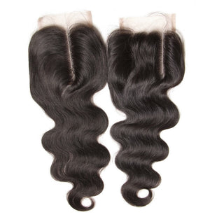 Vbena Peruvian Body Wave Lace Closure 4x4 Lace Hair Natural Color
