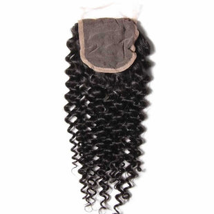 Vbena Brazilian Virgin Curly Hair 3Bundles With Lace Closure Human Hair Wave