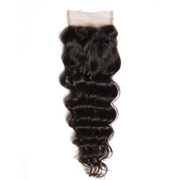 Vbena Brazilian Natural Wave Hair 3Bundles With 4X4 Lace Closure Hair