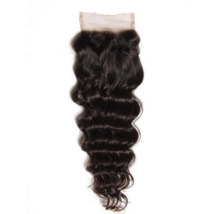 Vbena Peruvian Virgin Hair Natural Wave 4Bundles with Free Part 4x4 Lace Closure