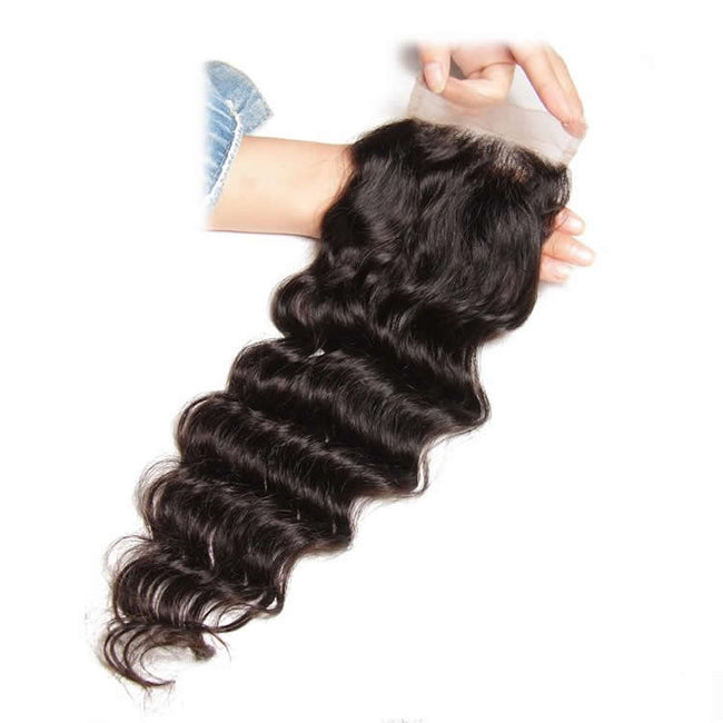 Vbena Malaysian Natural Wave 3Bundles with Lace Closure Human Virgin Hair