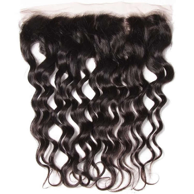Vbena Brazilian Natural Wave Lace Frontal Closure 1Bundles Human Virgin Hair