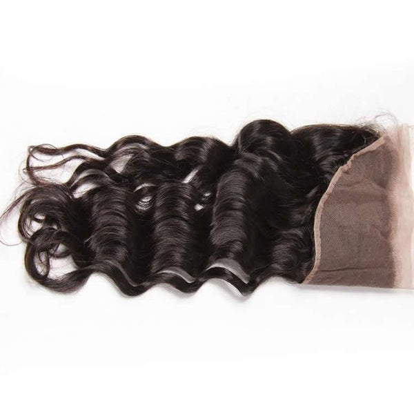 Vbena Vbena Peruvian Natural Hair Wave 3Bundles with Lace Frontal Closure Virgin Hair Budnles