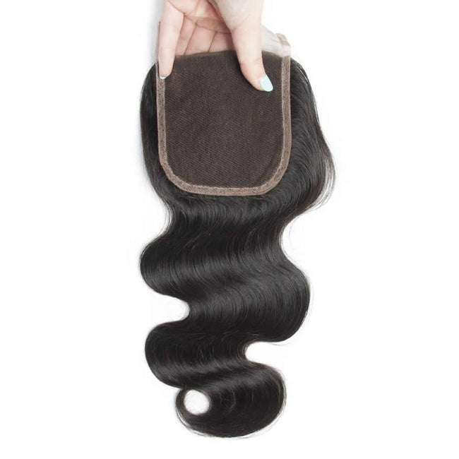 Vbena Indian Body Wave Human Virgin Hair Lace Closure 1Bundles