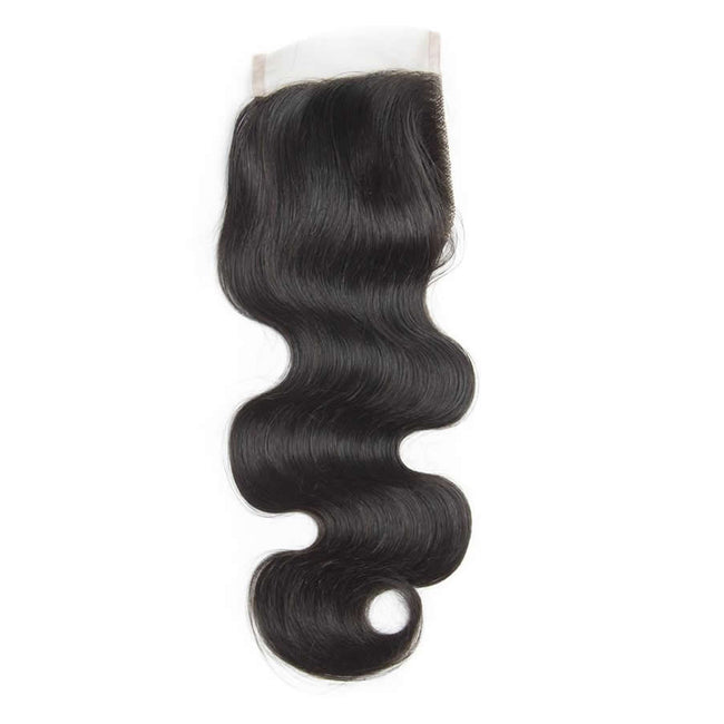 Vbena Brazilian Body Wave Human Virgin Hair 4x4 Lace Closure