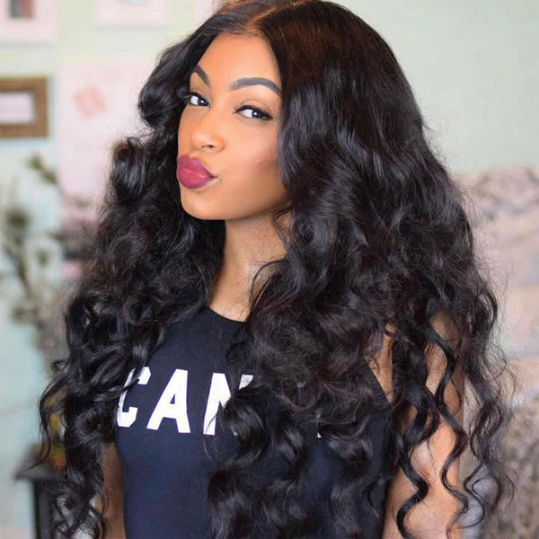 Vbena Brazilian Loose Wave Virgin Hair Weave 3bundles Human Hair Extensions