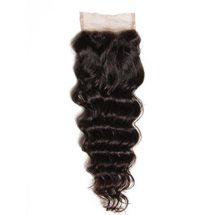 Vbena Natural Wave Lace Closure 1 Bundles Human Hair 4x4 Lace Closure
