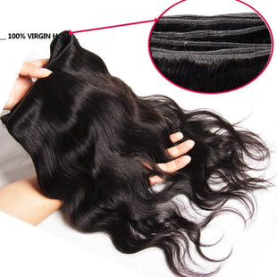 Vbena 4Bundles Brazilian Body Wave Unprocessed Virgin Remy Hair Weave