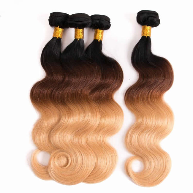 Vbena 3Tone Ombre Body Wave Human Hair 4Bundles/lot