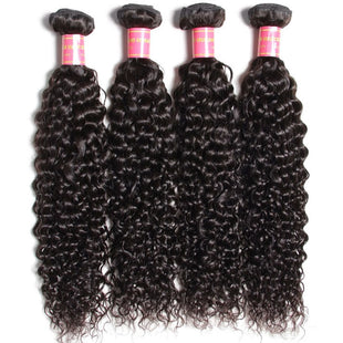 Vbena Brazilian Jerry Curly Virgin Hair Weaves 4Bundles Human Hair Wave