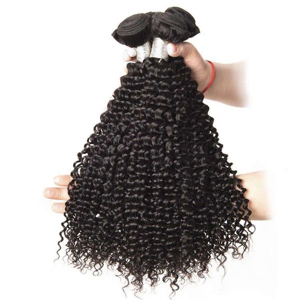 Vbena Malaysian Curly Hair 3Bundles 100% Virgin Human Hair Weave Extensions