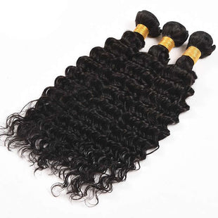 Vbena Brazilian Deep Wave 3Bundles Virgin Human Hair Natural Color