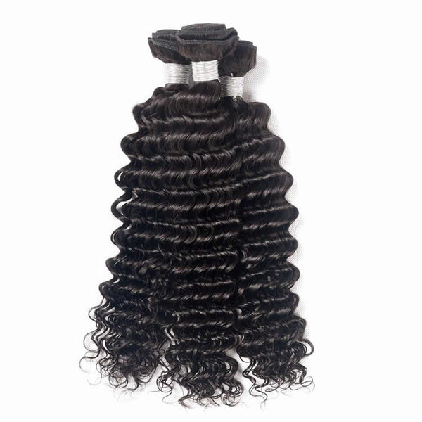Vbena Malaysian Deep Wave Curly Hair 4Bundles Vbena Human Hair Weave
