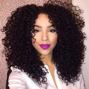 Vbena Malaysian Curly Hair Lace Frontal With 4Bundles Hair Weave Ear to Ear Closure
