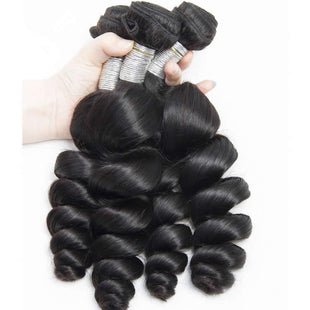 Vbena Hair Indian Loose Wave 3Bundles Virgin Human Hair Weave Extensions