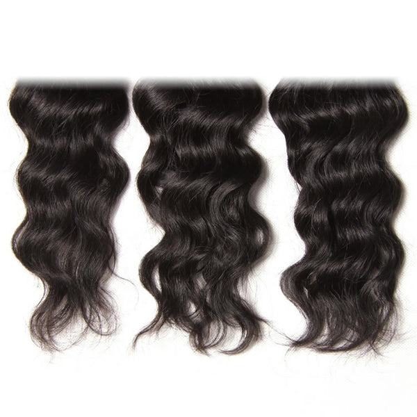 Vbena Hair 3Bundles Peruvian Natural Wave Virgin Human Hair Natural Color