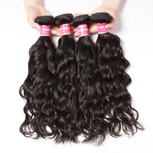 Vbena Indian Virgin Natural Wave 4Bundles Human Hair Weaves