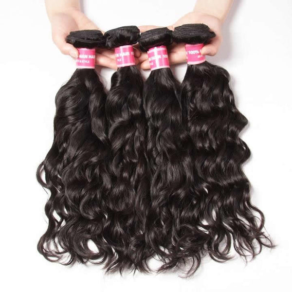 Vbena Malaysian Natural Wave 4Bundles Virgin Human Hair Natural Color