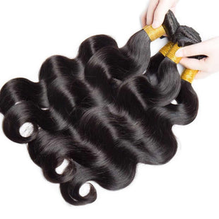 Vbena 7A Virgin Indian Body Wave Hair 4Bundles Human Hair Extensions Natural Color