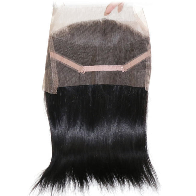 Vbena 1Bundels 360 Lace Frontal Closure Brazilian Straight Hair Weave