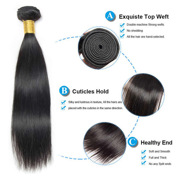 Vbena Hair Virgin Straight Human Hair 1bundle Wave Deals