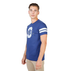 Oxford University Mens T-Shirt - ORIEL-STRIPED-MM Clothing T-shirts ORIEL-STRIPED-MM-NAVY-Blue-S 8050750175543