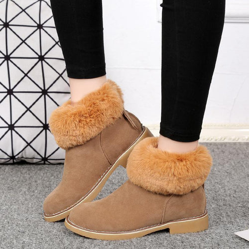 PMS ankle boots Brown / us5 Fashion Suede Flat Ankle Boots